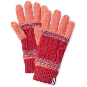 Smartwool Popcorn Cable Gloves sunset coral